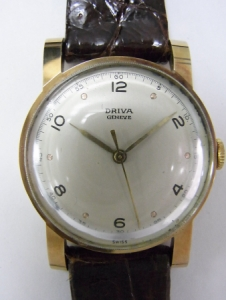 driva 18KYG antique watch