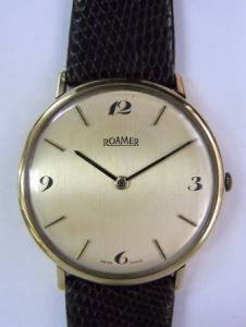 ROAMER hand winding YG  vintage watch